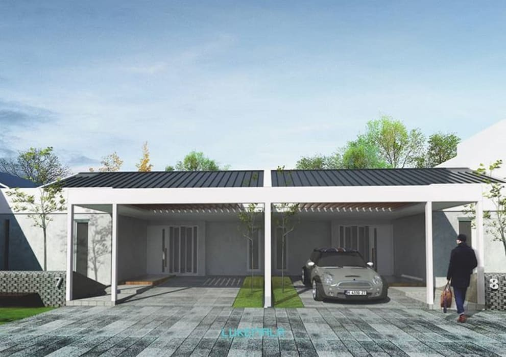 Fasad:  Garasi by Lukemala Creative Studio