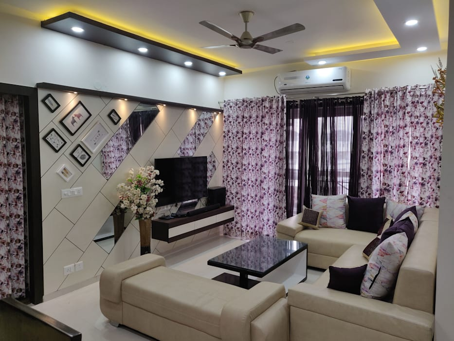 Living Room Lcd Panel Living Room By Design Kreations Homify