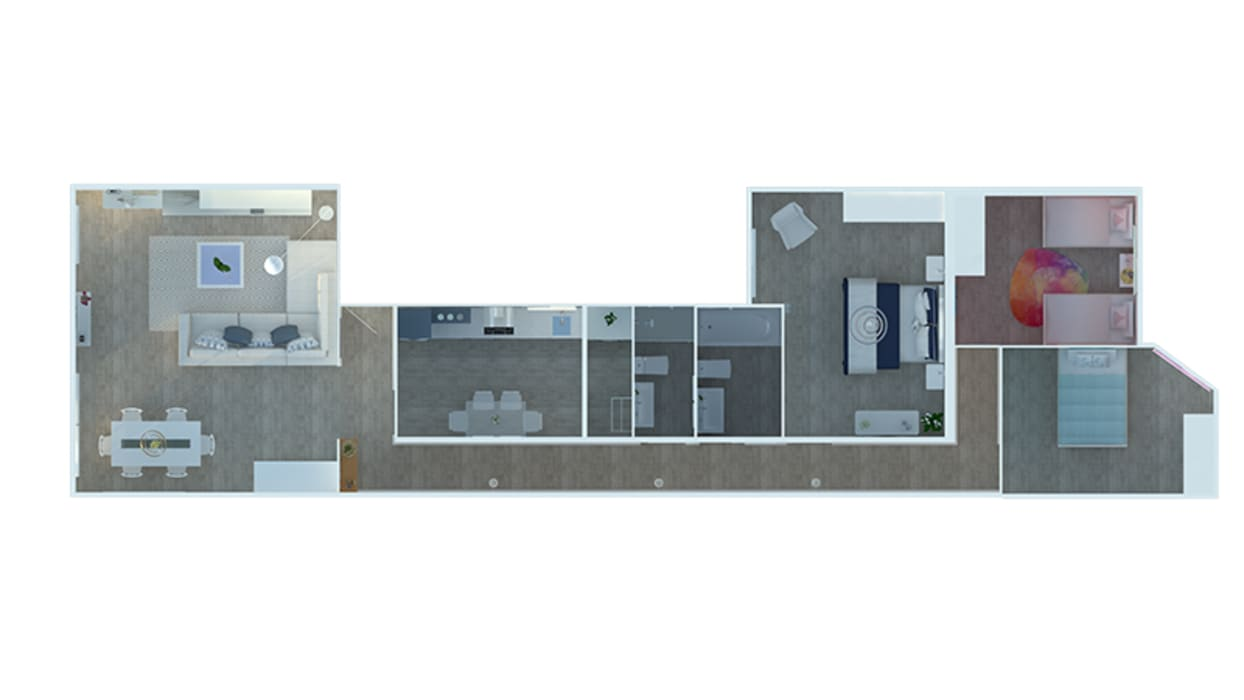 Proyecto de vivienda 3D de Novodeco