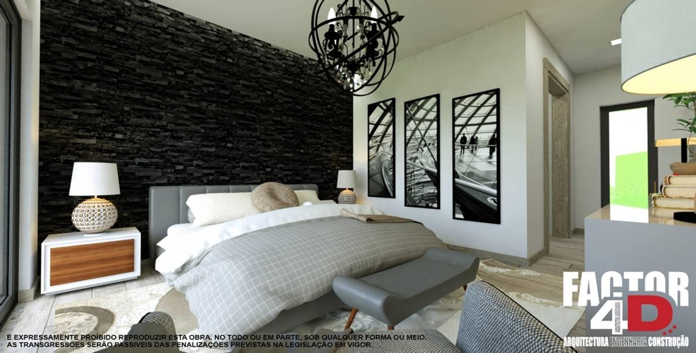 Factor4D - Arquitetura, Engenharia & Construção Modern style bedroom