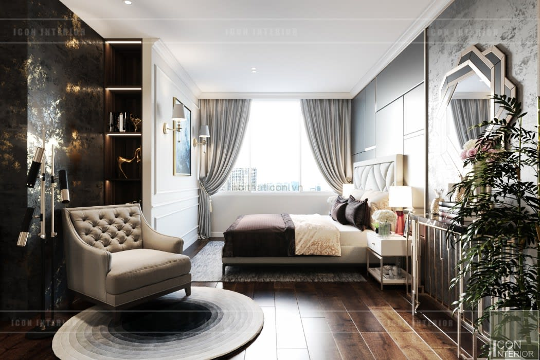 ICON INTERIOR Camera da letto moderna