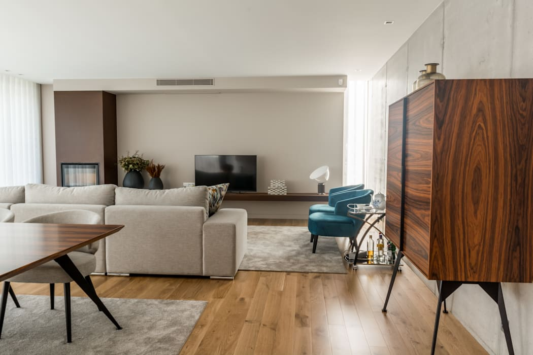 Sala de Estar : Salas de estar  por NOZ-MOSCADA INTERIORES