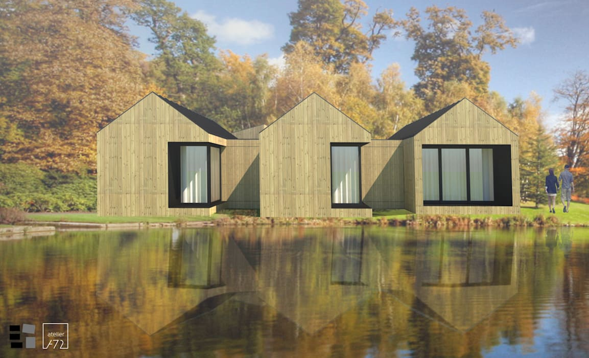 VILLAHOUSE - madeira: Casas pré-fabricadas  por Atelier 72 - Arquitetura, Lda,Moderno