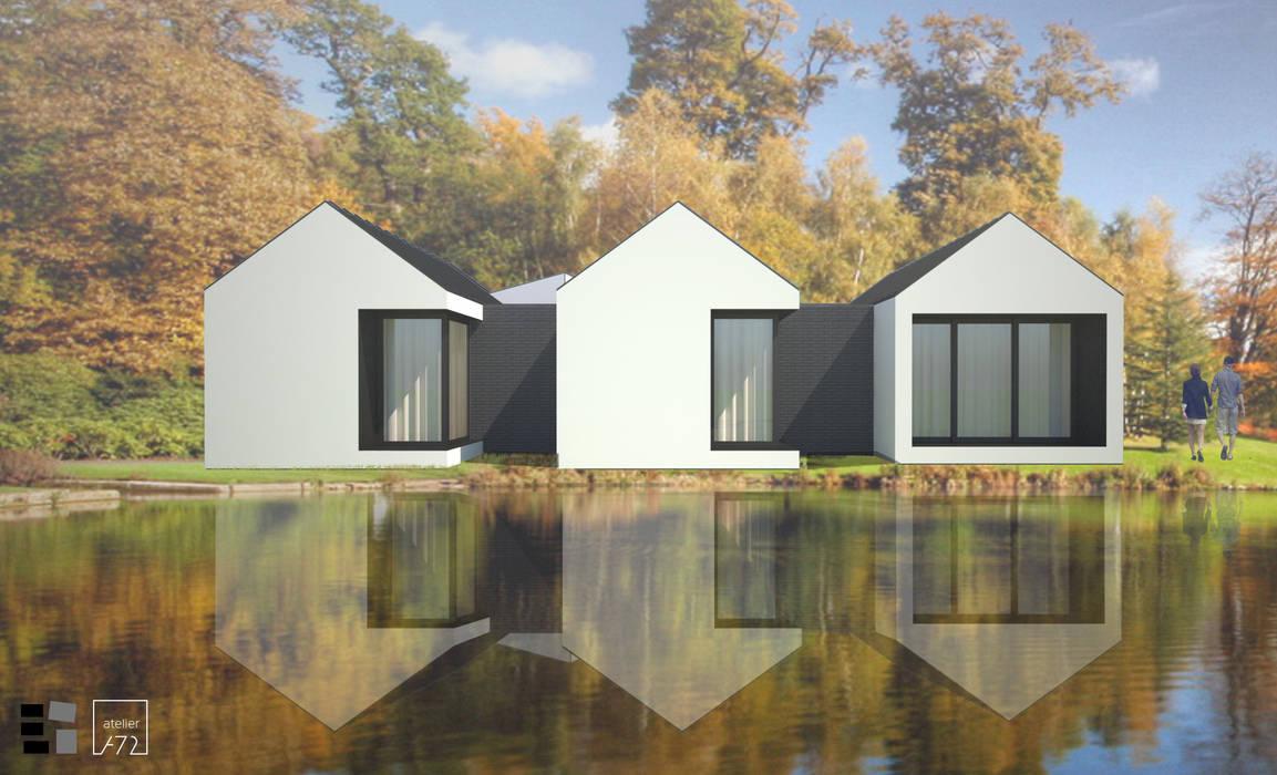 VILLAHOUSE - pintada por Atelier 72 - Arquitetura, Lda Moderno