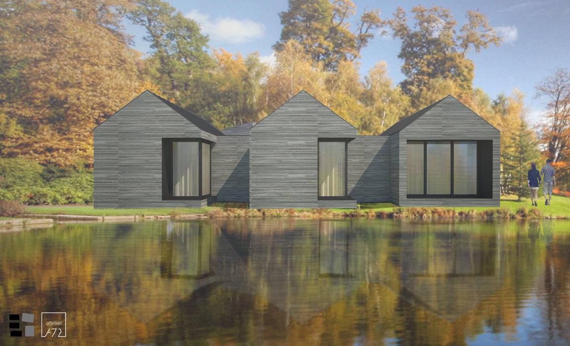 VILLAHOUSE - pedra por Atelier 72 - Arquitetura, Lda Moderno