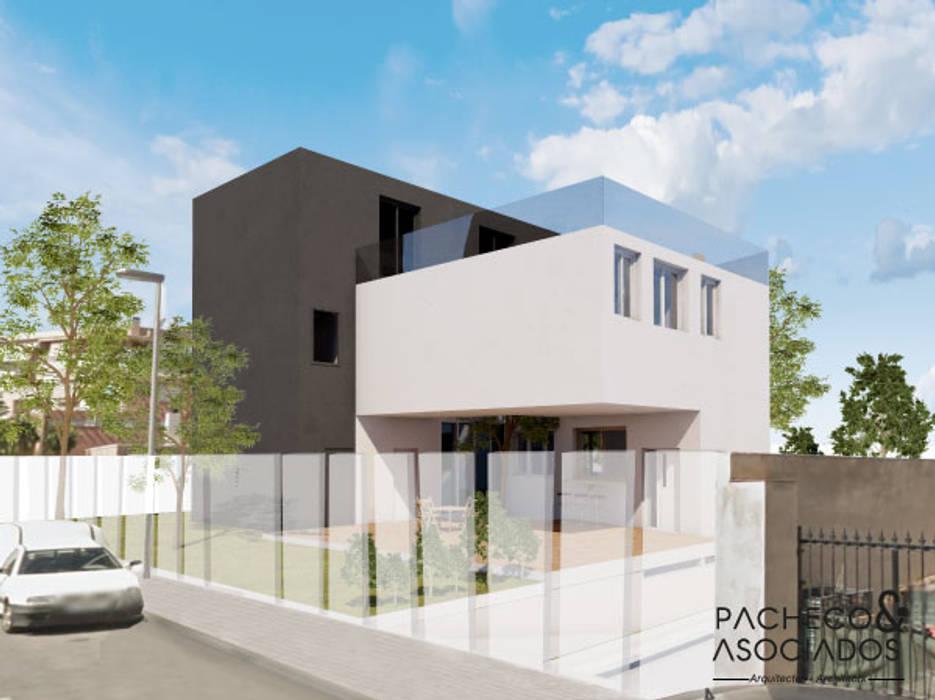 Casas unifamiliares de estilo  por Pacheco & Asociados