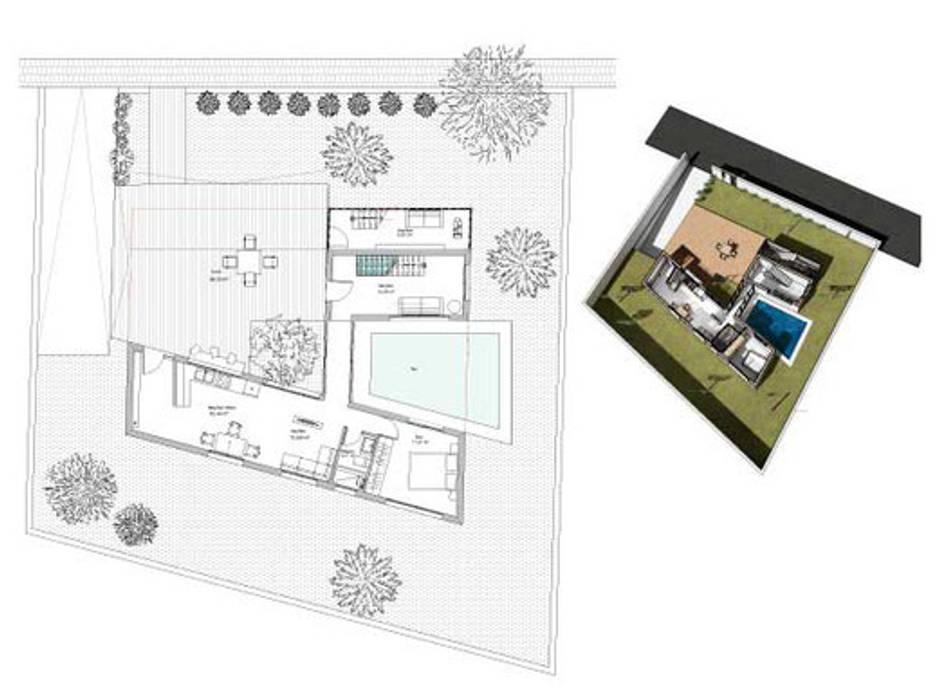 Planos del diseño:  de estilo  de Pacheco & Asociados