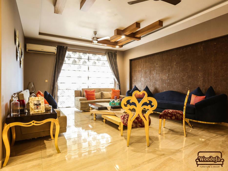 Living room Designs:  Living room by Woodofa Lifestyle Pvt. Ltd.