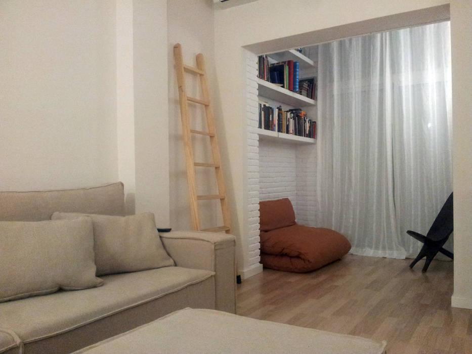 Pilar Pardal March Minimalist living room Bricks White