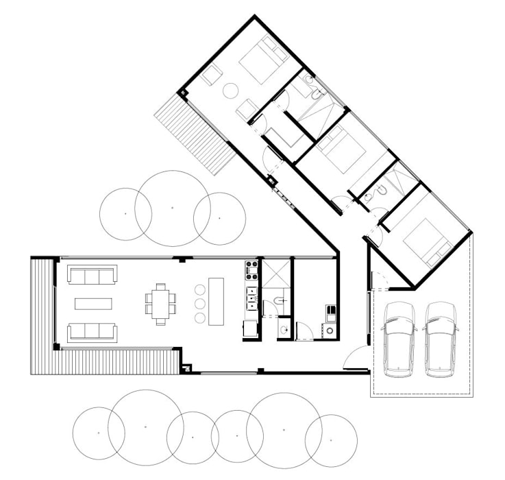 Casa de patio. Andrés Hincapíe Arquitectos de Andrés Hincapíe Arquitectos A H A Moderno