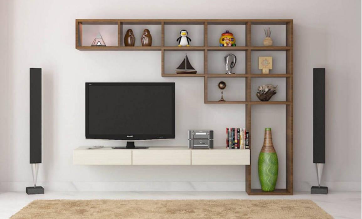 Salas de entretenimiento de estilo moderno de Monoceros Interarch Solutions Moderno
