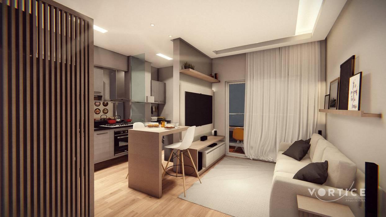 Harmonia de cozinha: Cozinhas pequenas  por Vortice Arquitetura