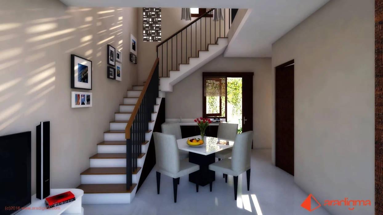 Rumah Arjuna: Ruang Keluarga oleh aradigma, Minimalis