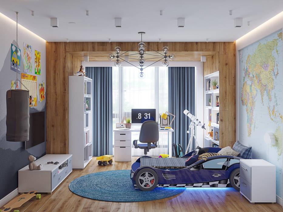 Квартира В ЖК «Лайнер», 171 кв.м.: Детские комнаты в . Автор – Loft&Home