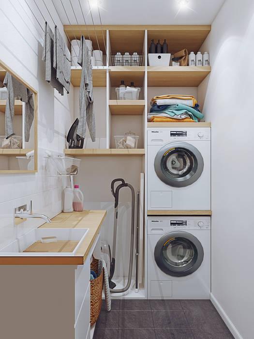 Квартира В ЖК «Лайнер», 171 кв.м.: Гардеробные в . Автор – Loft&Home