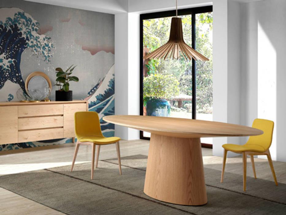Comedor de diseño italiano con mesa ovalada de roble: comedor de ...