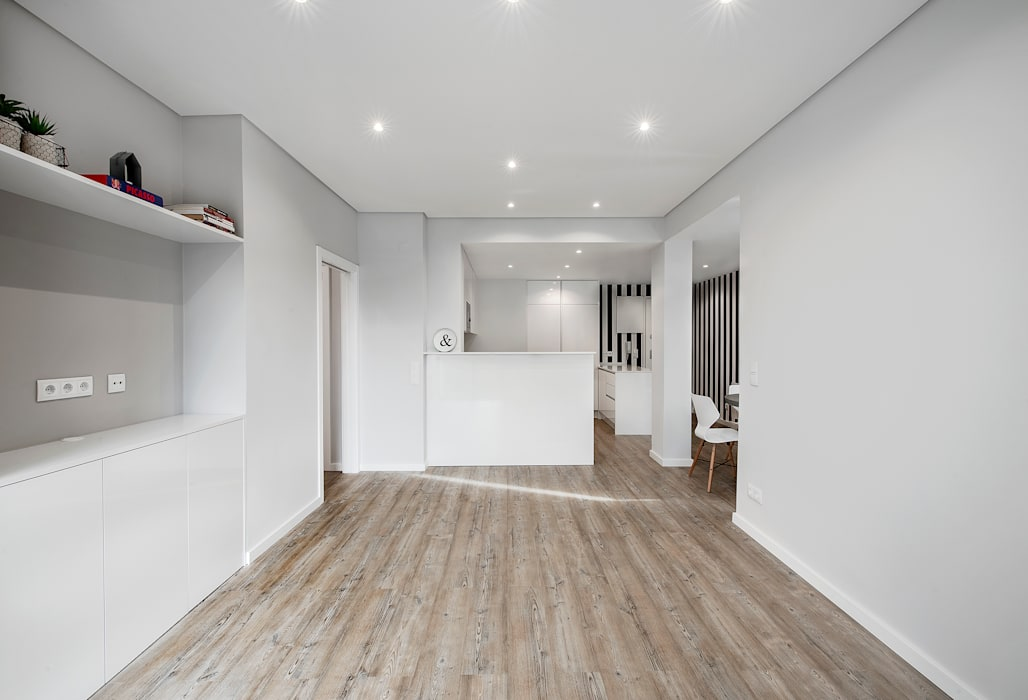 Salas / recibidores de estilo  por ARQ1to1 - Arquitectura, Interiores e Decoração,