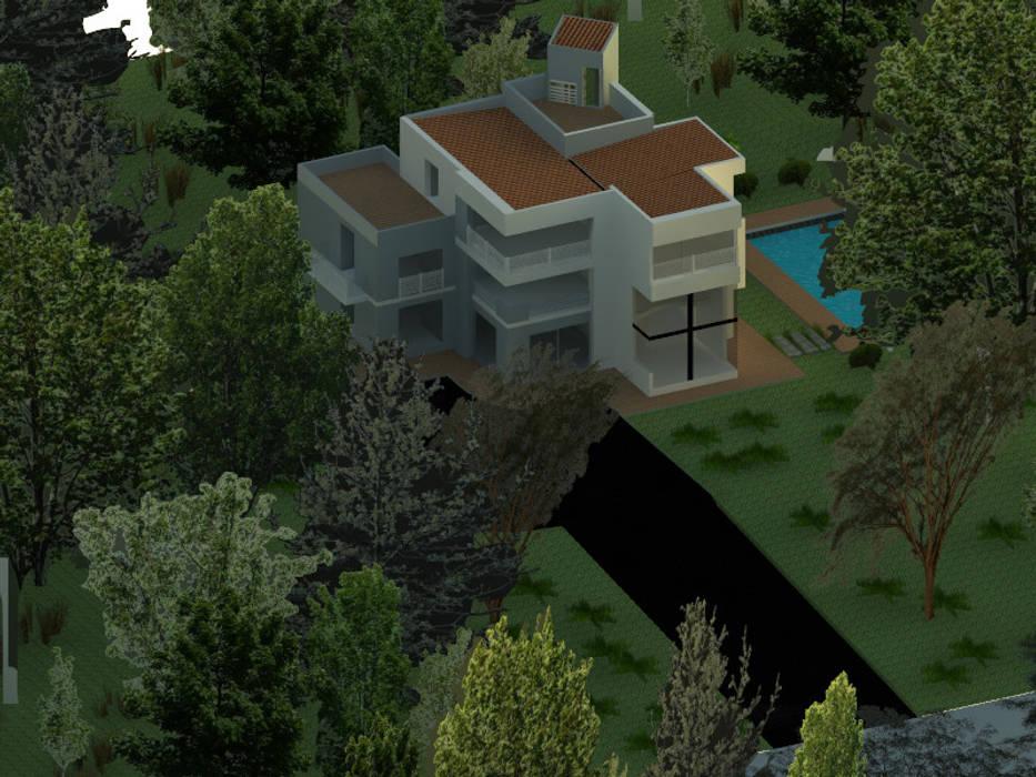 vista aerea : Casas de estilo  por OBS DISEÑO & CONSTRUCCION., Minimalista Concreto reforzado