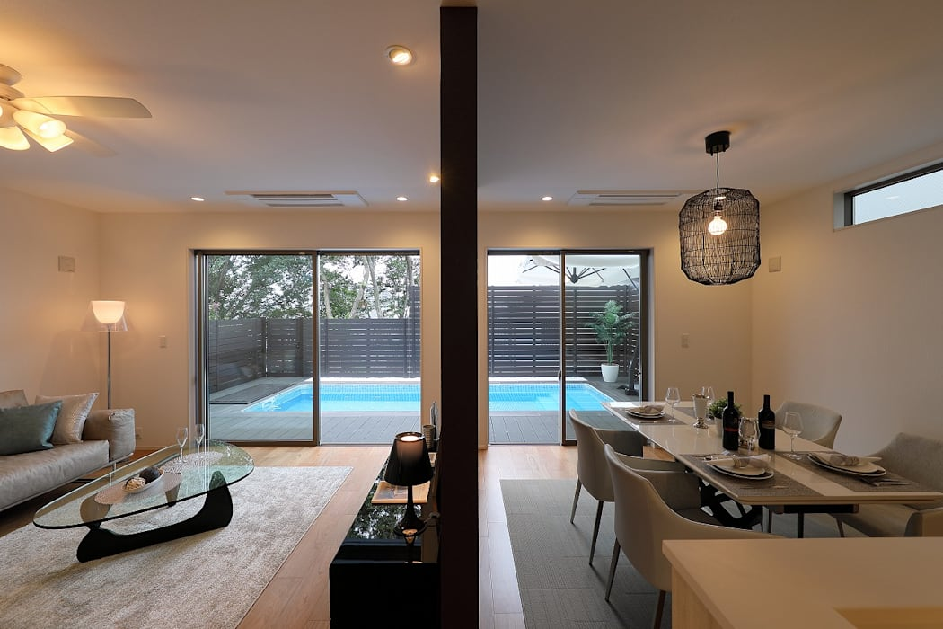 PROSPERDESIGN ARCHITECT OFFICE/プロスパーデザイン Modern living room
