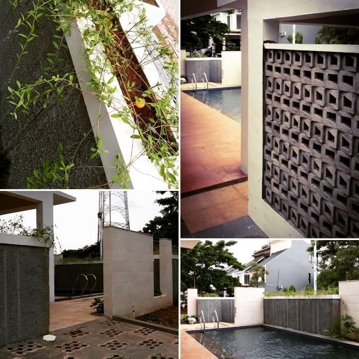 Mini swimming pool: Kolam renang halaman oleh RUANG DEPAN,