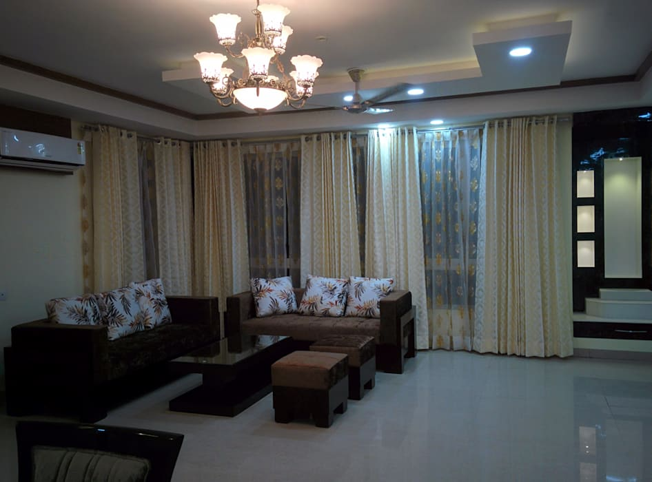 Living Room Designs:  Living room by Design Kreations