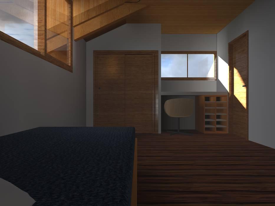 VIVIENDA RURAL - PARCELAS SANTA JULIA MELIPILLA: Dormitorios infantiles de estilo  por Vicente Espinoza M. - Arquitecto