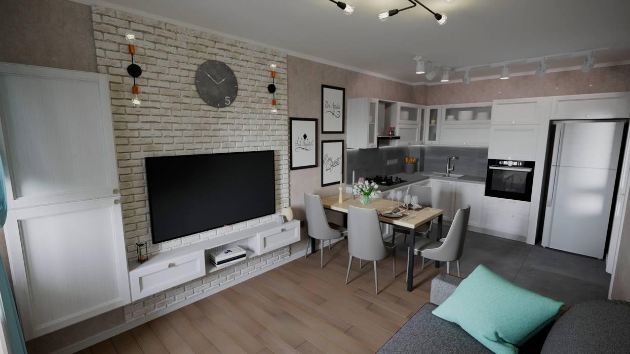 Кухня для молодой пары: Маленькие кухни в . Автор – modEN, Скандинавский