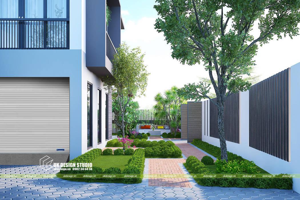 Thiết kế sân vườn bởi UK DESIGN STUDIO - KIẾN TRÚC UK Châu Á