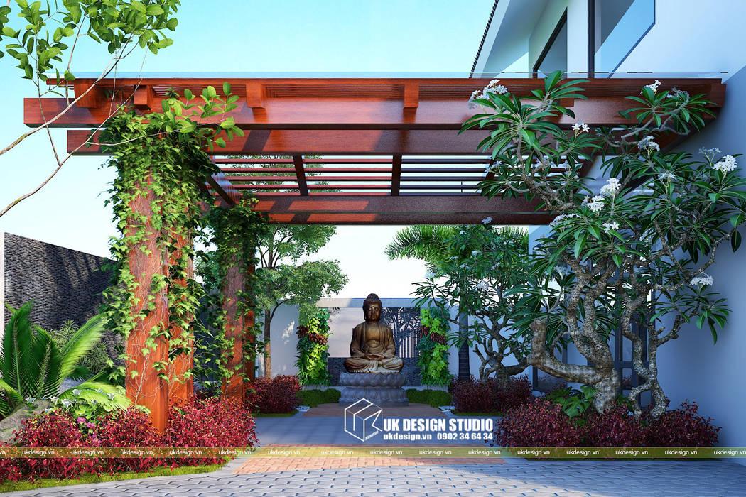 Thiết kế sân vườn:  Vườn thiền by UK DESIGN STUDIO - KIẾN TRÚC UK