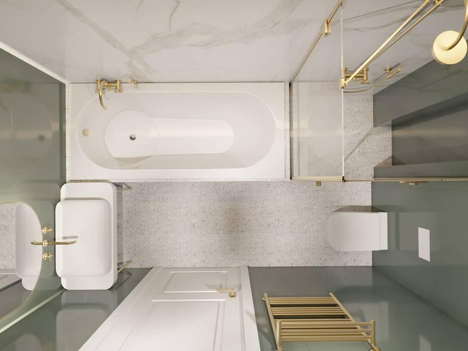 Легкая классика в изумрудных оттенках. Бюро Suite n.7: Ванные комнаты в . Автор – Suiten7