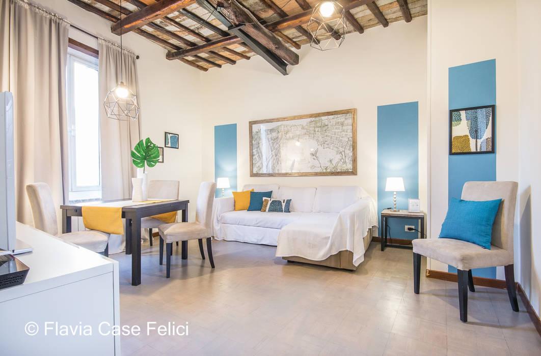 Nel cuore di roma soggiorno moderno di flavia case felici ...