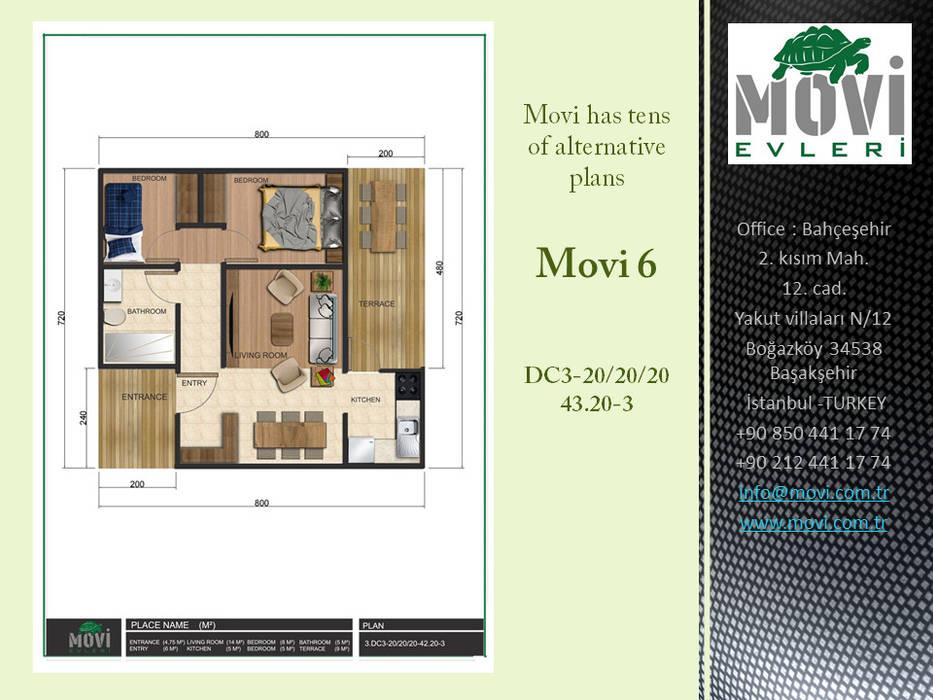Bungalows by MOVİ evleri