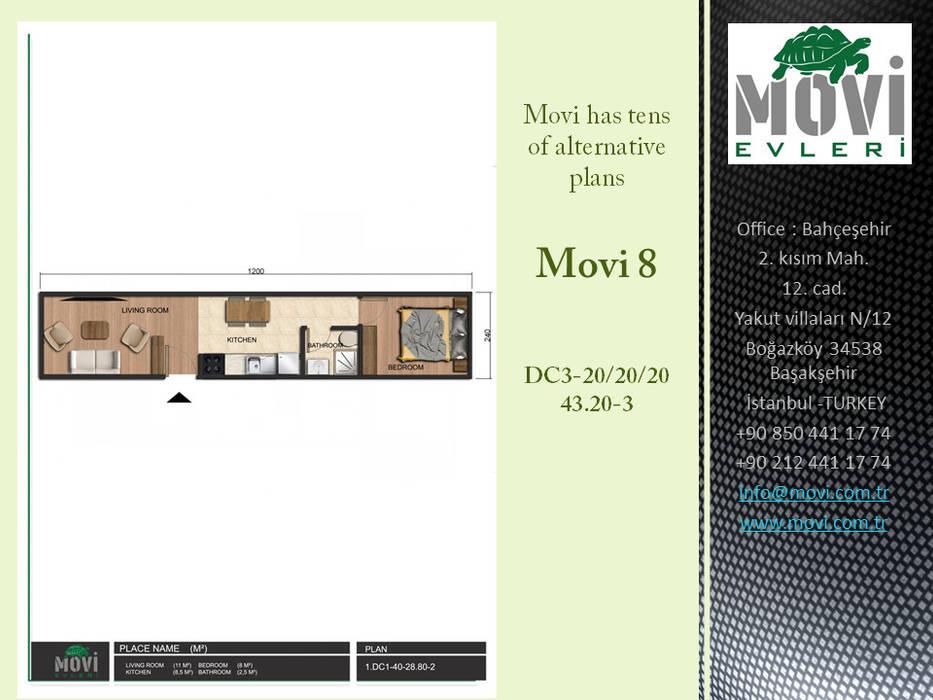 MOVİ evleri – MOVI SHIPPING CONTAINER  HOMES 1 :  tarz Küçük Evler