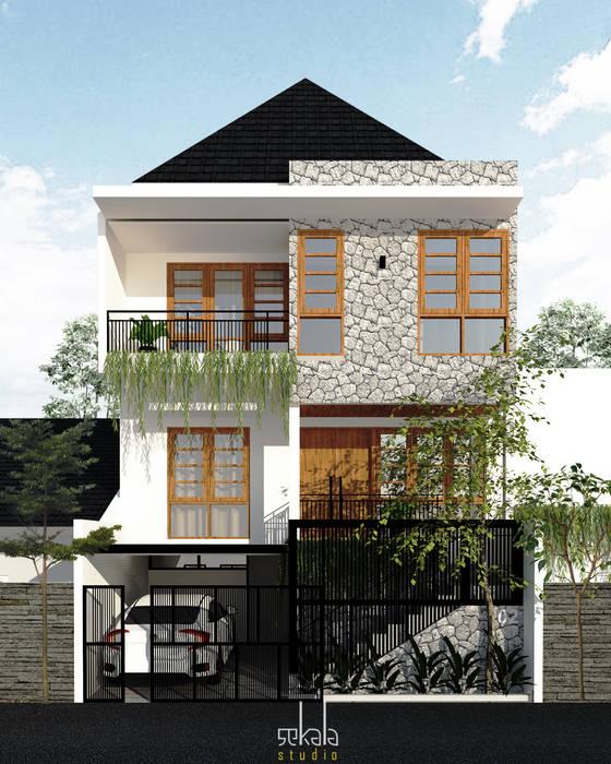 Desain Tampak Depan Rumah Modern Oleh SEKALA Studio Modern Batu Bata