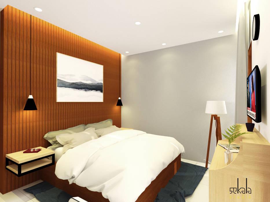Desain Kamar Tidur Utama (Master Bedroom Design) Kamar Tidur Modern Oleh SEKALA Studio Modern Kayu Buatan Transparent