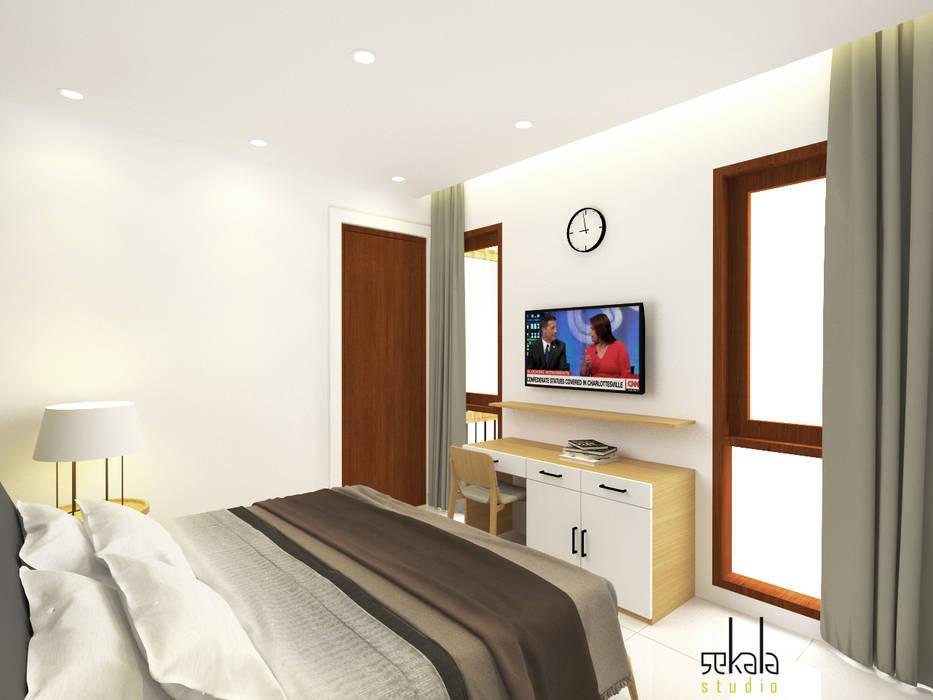 Desain kamar tidur (Bedroom Design) Kamar Tidur Modern Oleh SEKALA Studio Modern Batu Bata