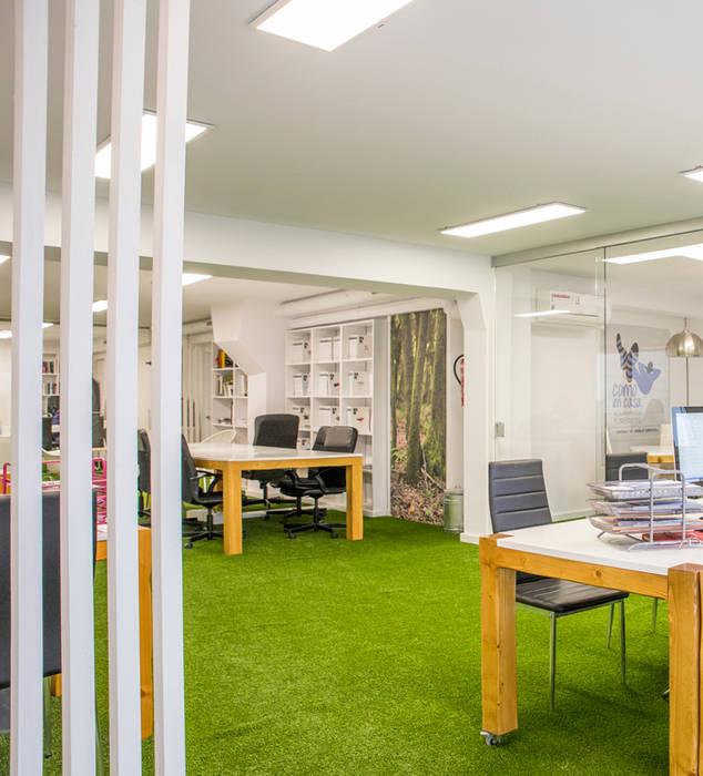 Despacho con césped artificial Oficinas y tiendas de estilo moderno de Albergrass césped tecnológico Moderno