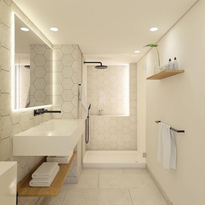 Apartamento em Lisboa Casas de banho minimalistas por meta.atelier Minimalista