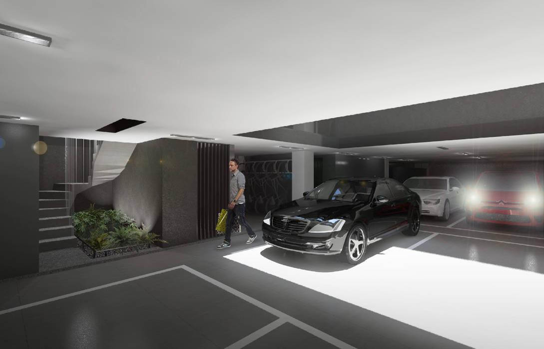 Garage / Hangar modernes par NEGRO arquitectura, S.A. de C.V. Moderne