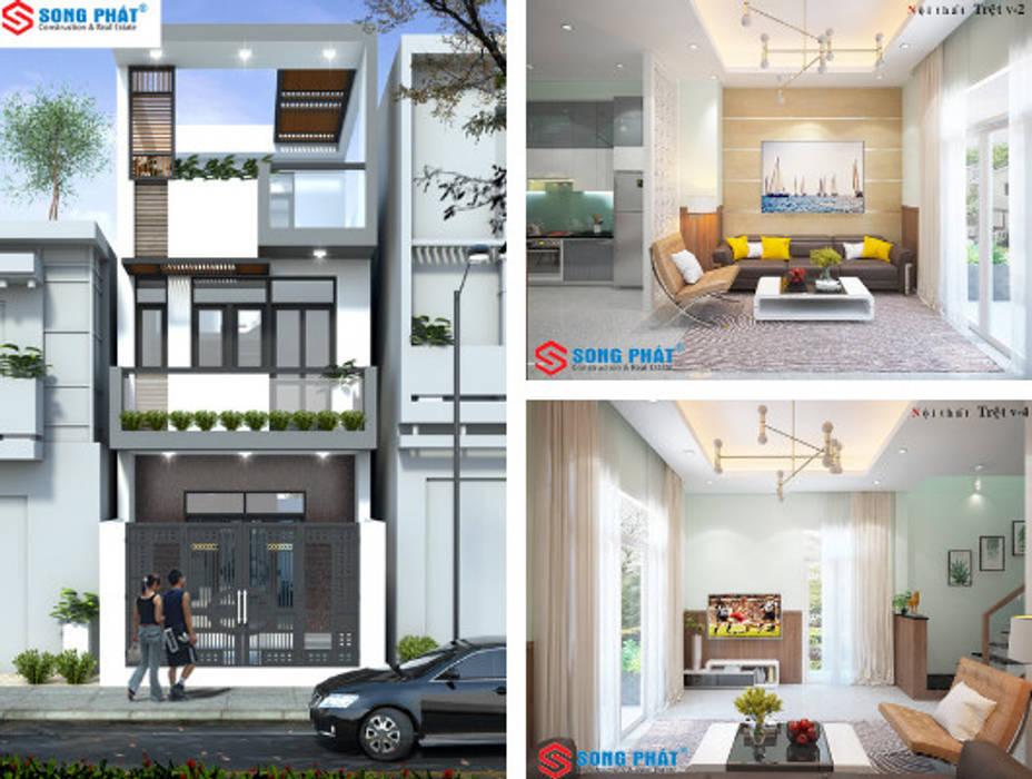 Maison individuelle de style  par Công ty TNHH TK XD Song Phát,