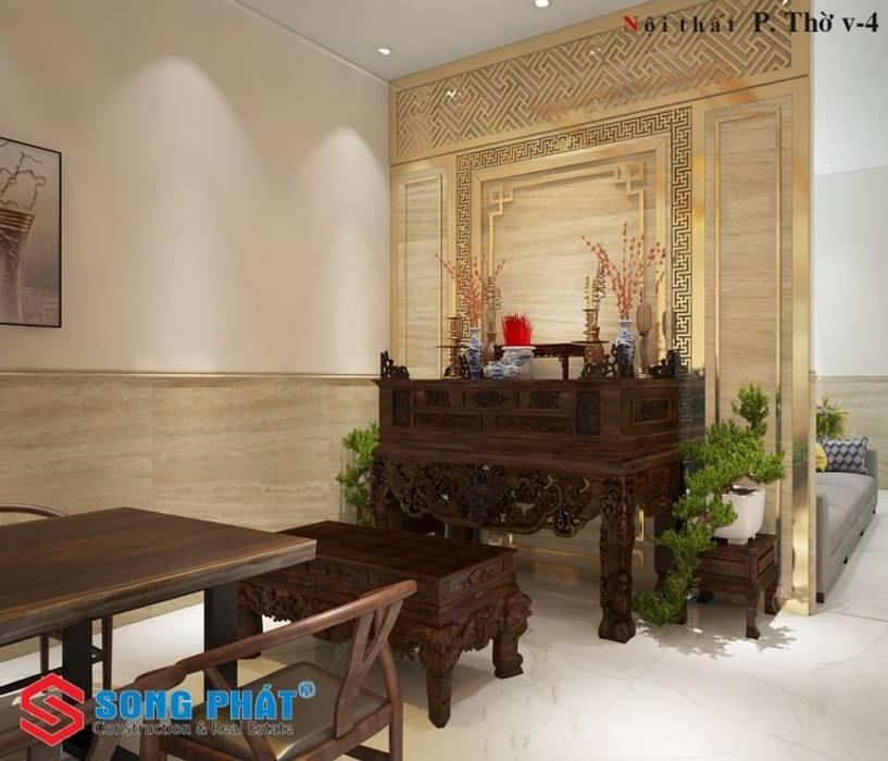 Công ty TNHH TK XD Song Phát Ruang Keluarga Modern Marmer