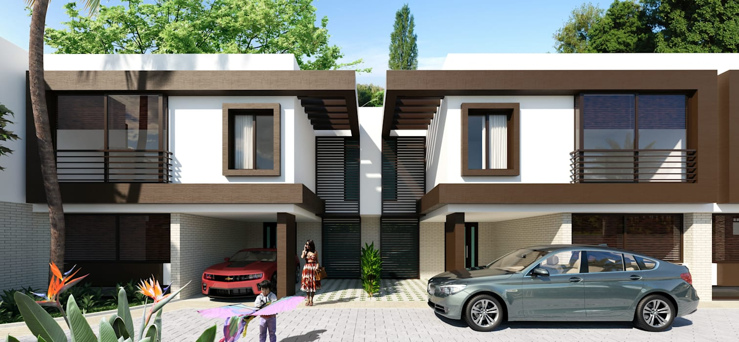 Imagen fachadas / Conjunto residencial Trapiche Houses / Ibagué - Colombia : Casas de estilo  por Taller 3M Arquitectura & Construcción