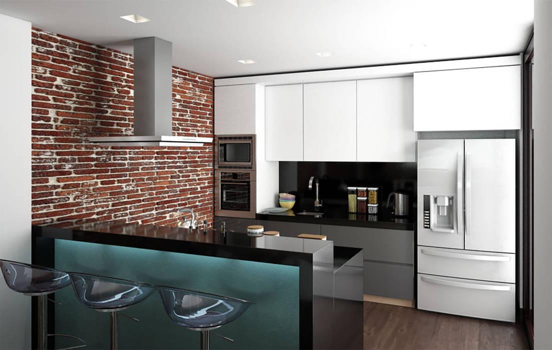 cocina / Conjunto residencial Trapiche Houses / Ibagué - Colombia : Cocinas de estilo  por Taller 3M Arquitectura & Construcción,