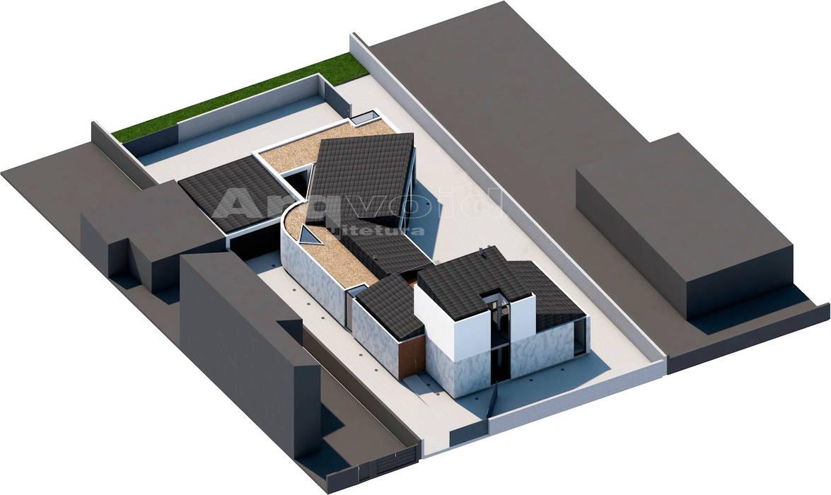 Chalets de estilo  por Arqvoid - Arquitetura e Serviços, Lda., Minimalista
