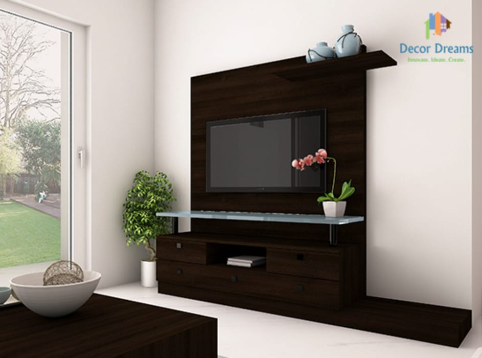 Adarsh Palm Retreat, 3BHK - Mr. Deepak:  Living room by DECOR DREAMS,Modern
