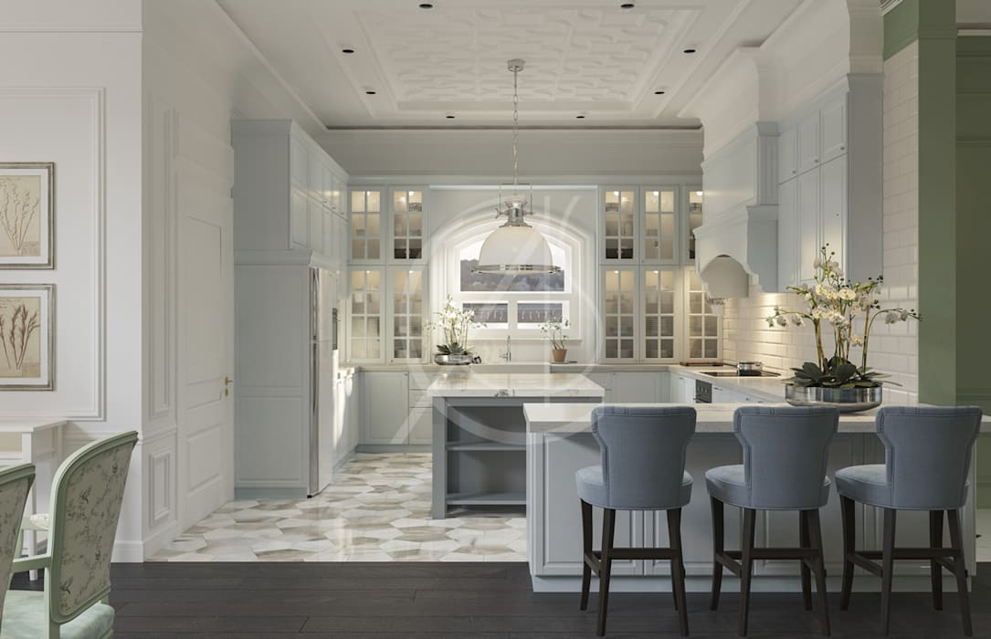 Classic House Interior Design Classic style kitchen by Comelite Architecture, Structure and Interior Design Classic