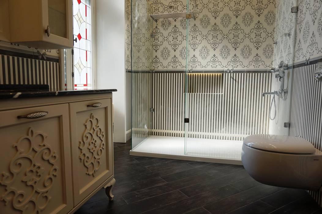 Rustic style bathrooms by MURAT YAPI DEK. İNŞ. TAAH. TİC. LTD .ŞTİ. Rustic Ceramic