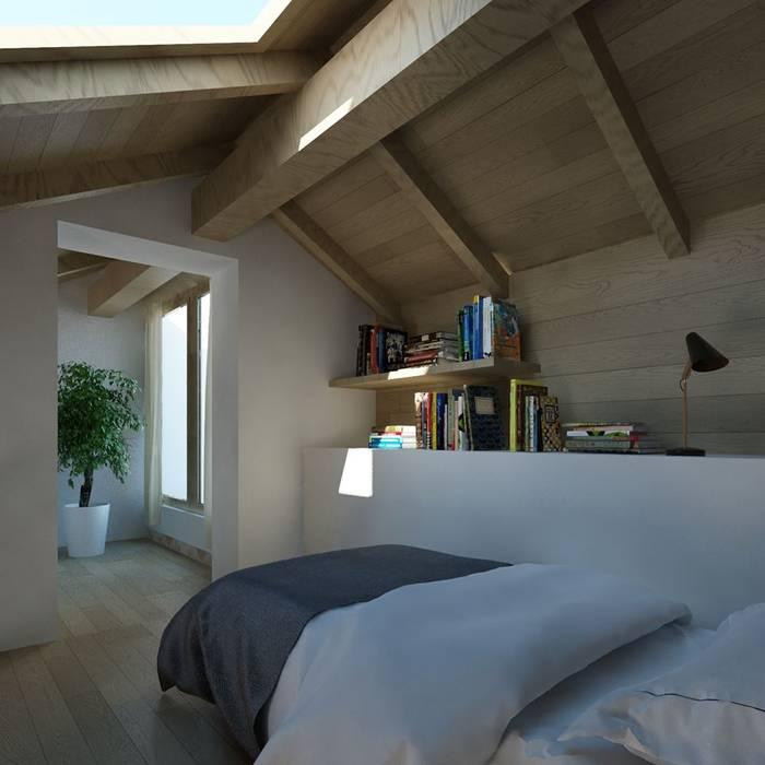 Ing. Massimiliano Lusetti Small bedroom Дерево Бежевий