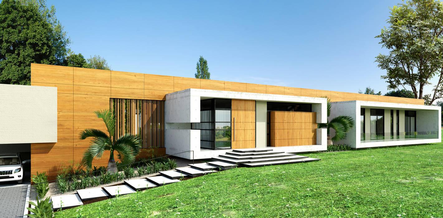 Fachada principal: Conjunto residencial de estilo  por Taller 3M Arquitectura & Construcción
