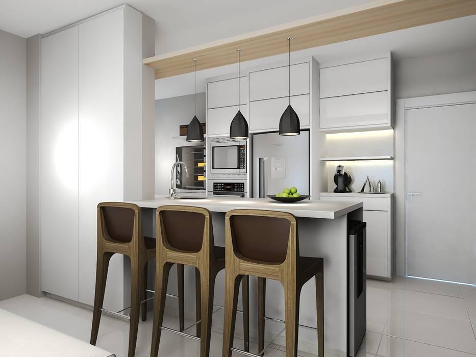 Petites cuisines de style  par Andrea Girotto Arquitetura + Engenharia